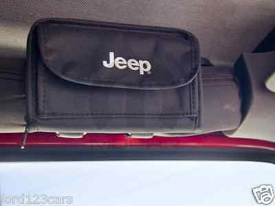 Jeep Wrangler Sunglass Holder / Storage Pouch w/ Logo 310RR152 MOPAR