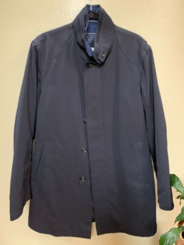 Sanyo Men's Trench Coat - Size L - Navy Blue