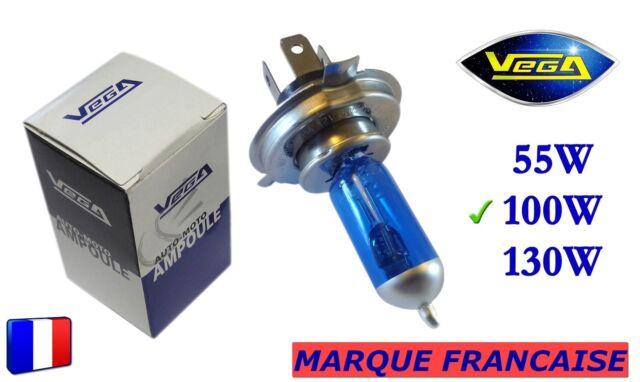"""► Ampoule Xénon VEGA® """"DAY LIGHT"""" Marque Française H4 100W 5000K Auto Phare ◄"""