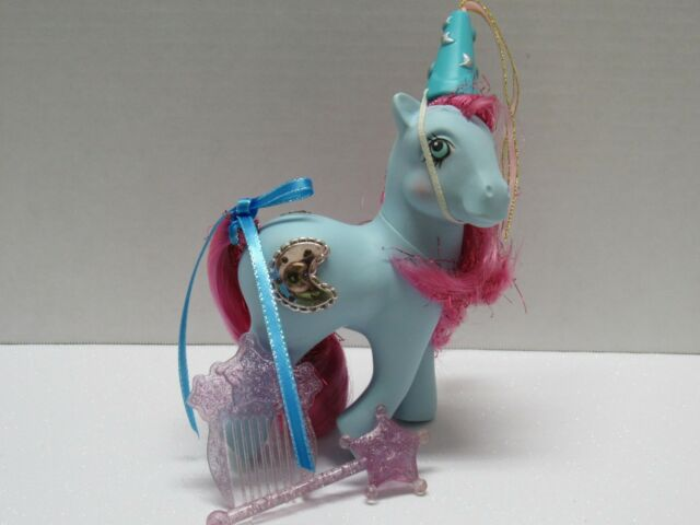 af57afad MY LITTLE PONY G1 VINTAGE PRINCESS ROYAL BLUE WITH ACCESSORIES WAND HAT  COMB +