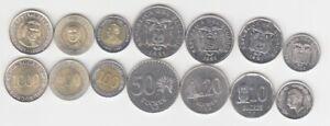 Ecuador-KMS-lose-7-Muenzen-bankfrisch-Bimetall