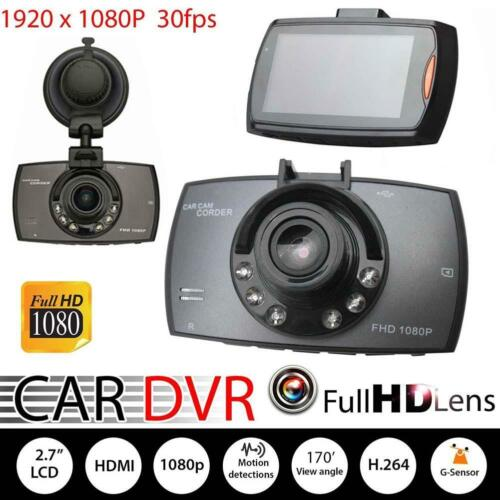 "Full HD 1080P 2.7/"" LCD Car DVR Dash Camera Crash Cam G-sensor Night Vision #V"