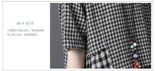 Hot Chic Womens Summer Linen Cotton Loose Maxi Dress Long Flax A Line Dresses