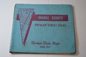 1973-Thomas-Bros-Maps-Orange-County-Popular-Street-Atlas-Spiral-Vintage-CA