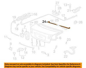 Genuine Honda Acura Trunk Lid Torsion Bar Clip Accord TL Civic OEM 74873SM4003
