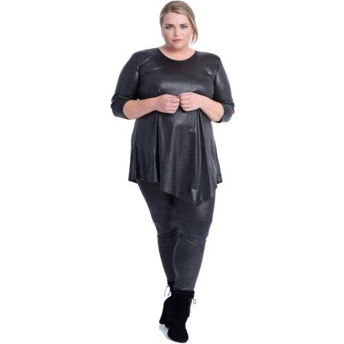 Damen Diagonal Bluse Magna Von 56 Tunika lederoptik 58 Gr 40 4 Farben 42 XnqEBnp