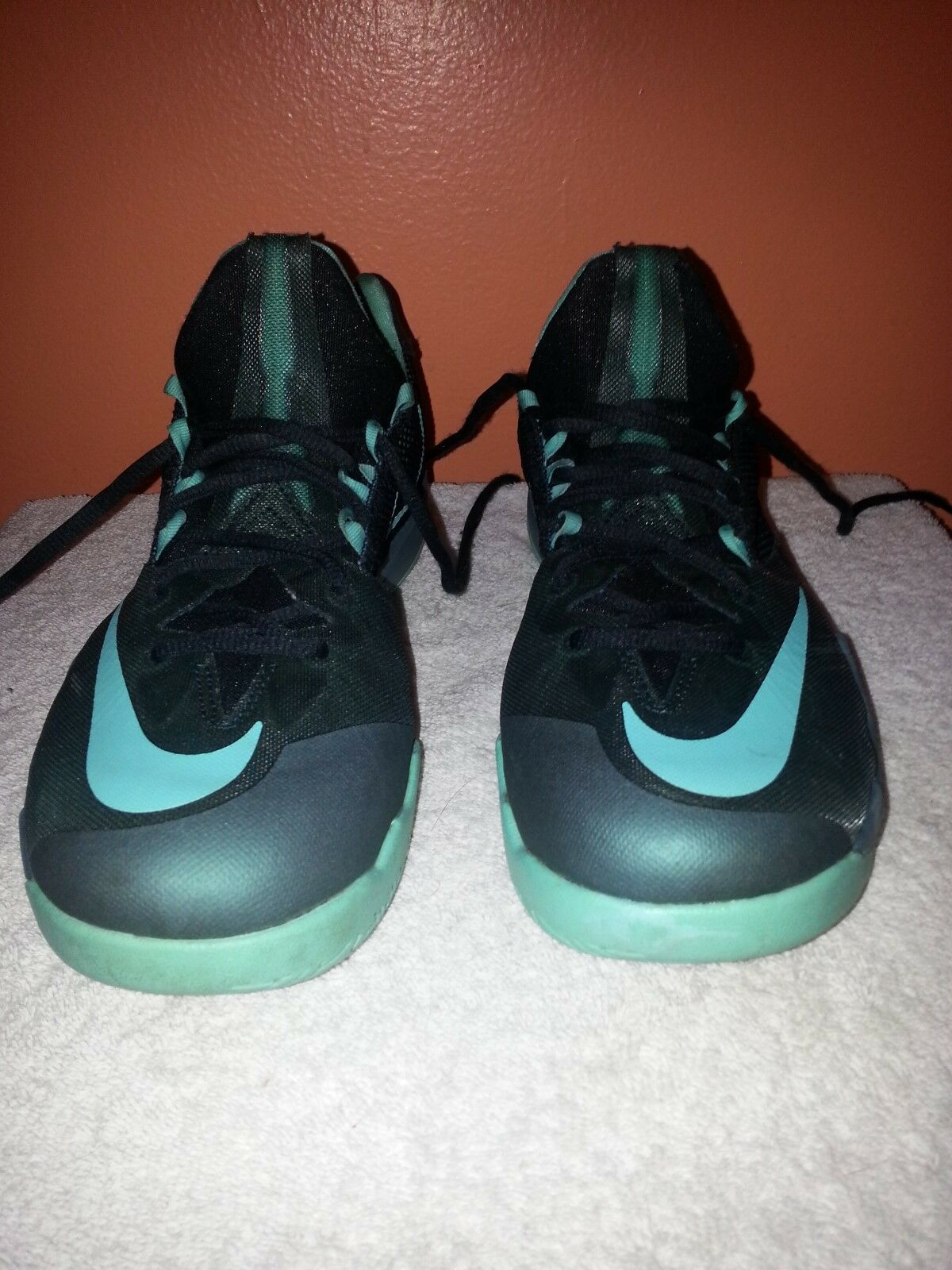Men's Nike Zoom The Run Seaweed Turquoise Basketball Shoes 653636-333 Price reduction