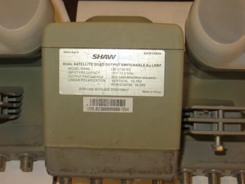 USED Shaw Direct Dual Quad dish 60 cm STARCHOICE Ku Satellite LNB F 11.7-12.2GHz