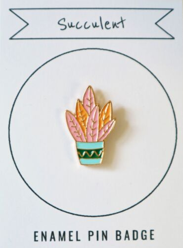 Succulent Enamel Pin Lapel Badge Cute Kawaii Fashion Blogger Accessory Gift
