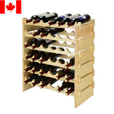 Sortwise® Wood Wine Rack 36 Bottles Holder 6 Tier Stackable Storage Stand