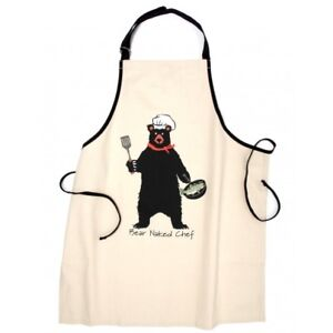 Hatley-Funny-Cotton-Apron-BEAR-NAKED-CHEF-Barbecue-Party-Unisex-Chef