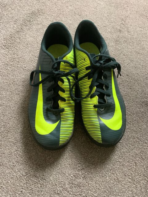 newest 8de68 666af NIKE CR7 MERCURIAL X ASTRO TURF BOOTS/TRAINERS UK5 EUR 38 GREEN/YELLOW GOOD  COND