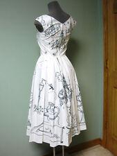 Dolce & Gabbana AUTH NWT Secret Garden Party Print Poplin Pleated ALine Dress 38