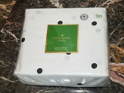 Kate Spade New York Queen 4 Piece Sheet Set Mini Deco Dot