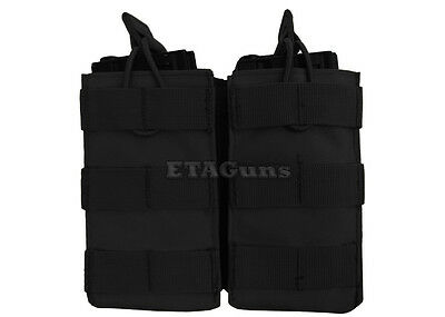 CONDOR Black MOLLE PALS Double Open Top Mag 5.56 .223 223 Magazine Pouch Holster