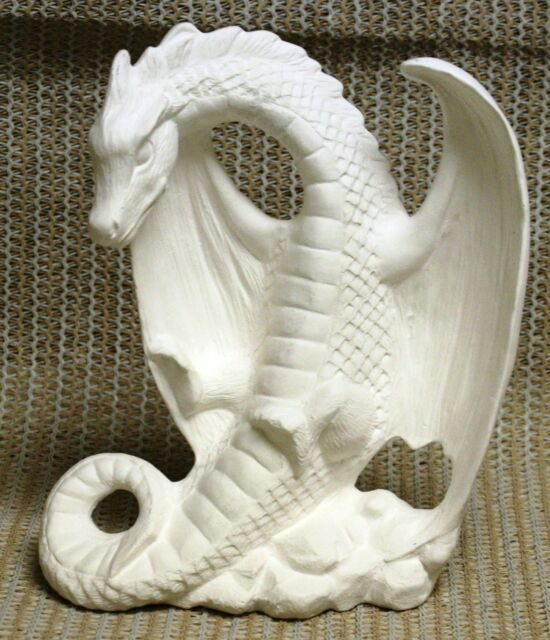 Ceramic Bisque Dragon on Tail Nowell Mold 2627 U-paint Ready to Paint