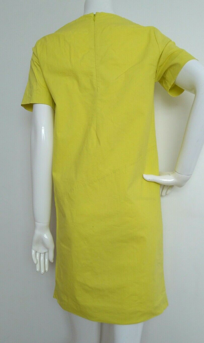 COS casual tunic dress size 8 --MINT-- short sleeve loose loose loose fit bright yellow 5656b5