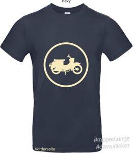 T-Shirt-Schwalbe-Mopedjungs-Simson-MZ-Oldtimer-Trabant-Wartburg-Moped-Simme