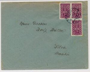 ÖSTERREICH 1922 AUSLANDSBRIEF, WIEN nach NITRA (Slowakei)