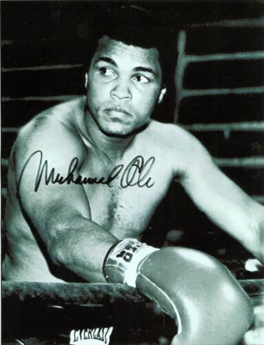 MUHAMMAD ALI signed picture boxing jkd ufc