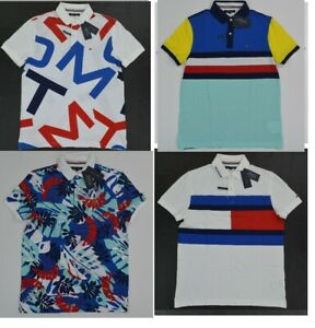 NWT-Men-039-s-Tommy-Hilfiger-Short-Sleeve-THCOOL-Cotton-Polo-Shirt-XS-S-M-L-XL-XXL