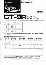 instrucciones Manual de servicio para Pioneer CT-9R