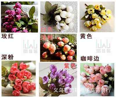 Free Shipping Cheap Floral Decor Home Wedding Craft Flowers Artificial Silk Rose
