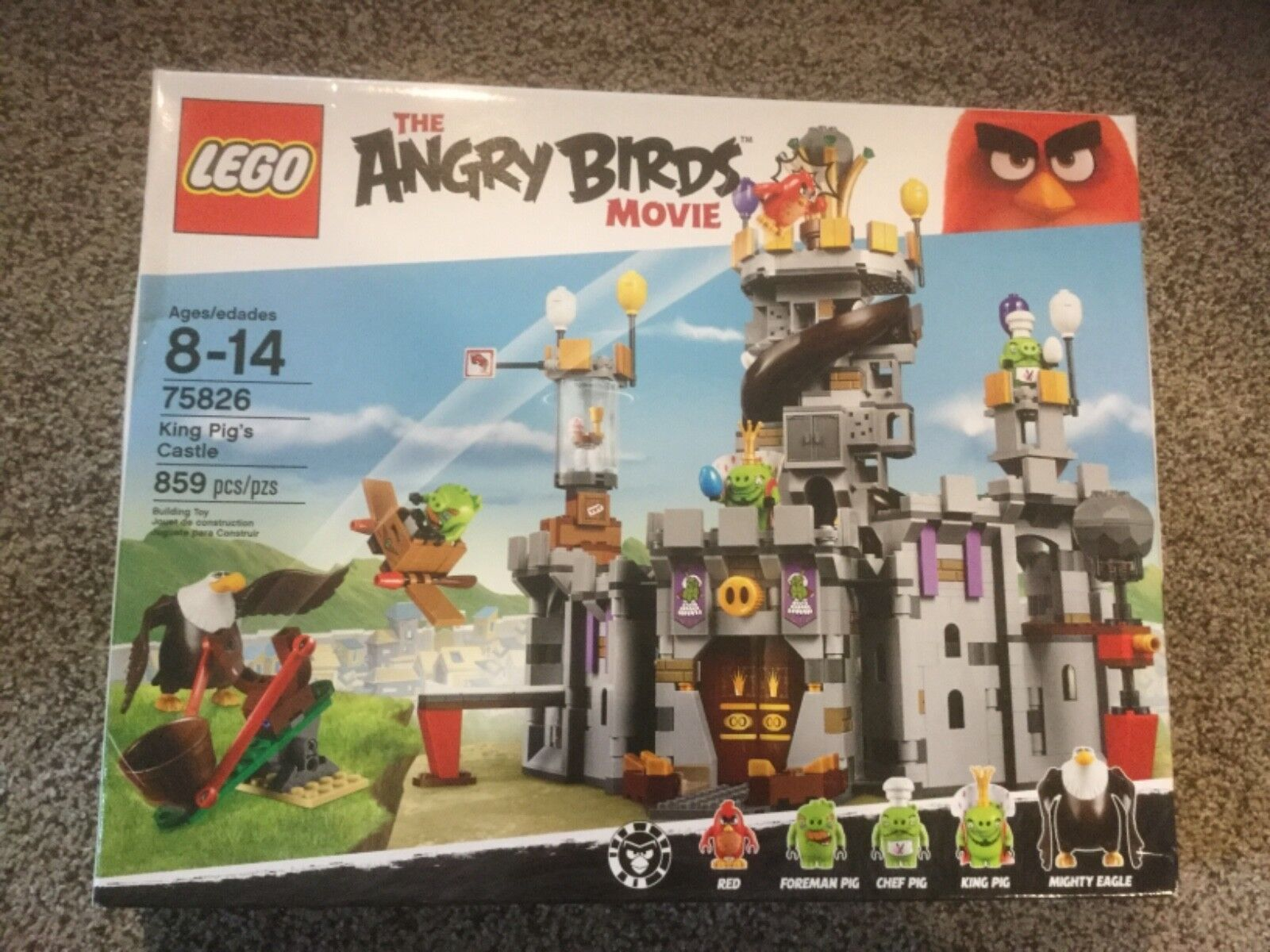 nuovo LEGO The Angry Birds Movie re Pig's Castle  75826  spedizione gratuita in tutto il mondo