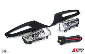 FRONT-BUMPER-FOG-LIGHT-GRILL-LAMPS-L-amp-R-FOR-VW-POLO-MK8-6R-09-14-WIRING-KIT-SET