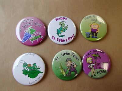 6 Finnish St Urho/'s Day Pins