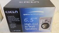 Speco Sp-6clw 2-way In-wall Speaker Pair 6.5 Molded Woofer 1 Titanium Tweeter