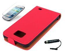 Schutzhülle f Samsung Galaxy S2 i9100 + i9105 Tasche Kunstleder Flip Case rot