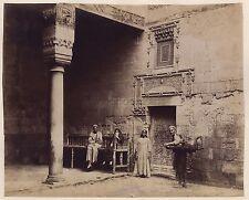 Palais Aroussi Atelier Gustave Le Gray Caire Egypte Photo Zangaki Vintage c 1870