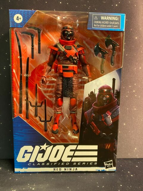 2020 GI Joe Classifieds Series #08 Red Ninja Figure