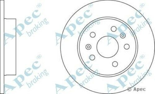 1x OE Quality Replacement Rear Axle Apec Solid Brake Disc 5 Stud 264mm Single