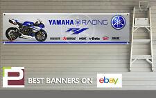 Yamaha R1 Racing Banner for Workshop, Garage, Pit Lane, Pirelli, Akrapovic, NGK