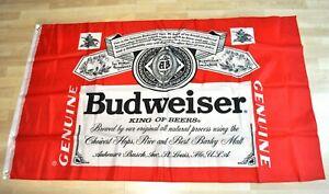 Budweiser Cerveza Ee.uu. Grande 150CM Bandera Banner - Rojo