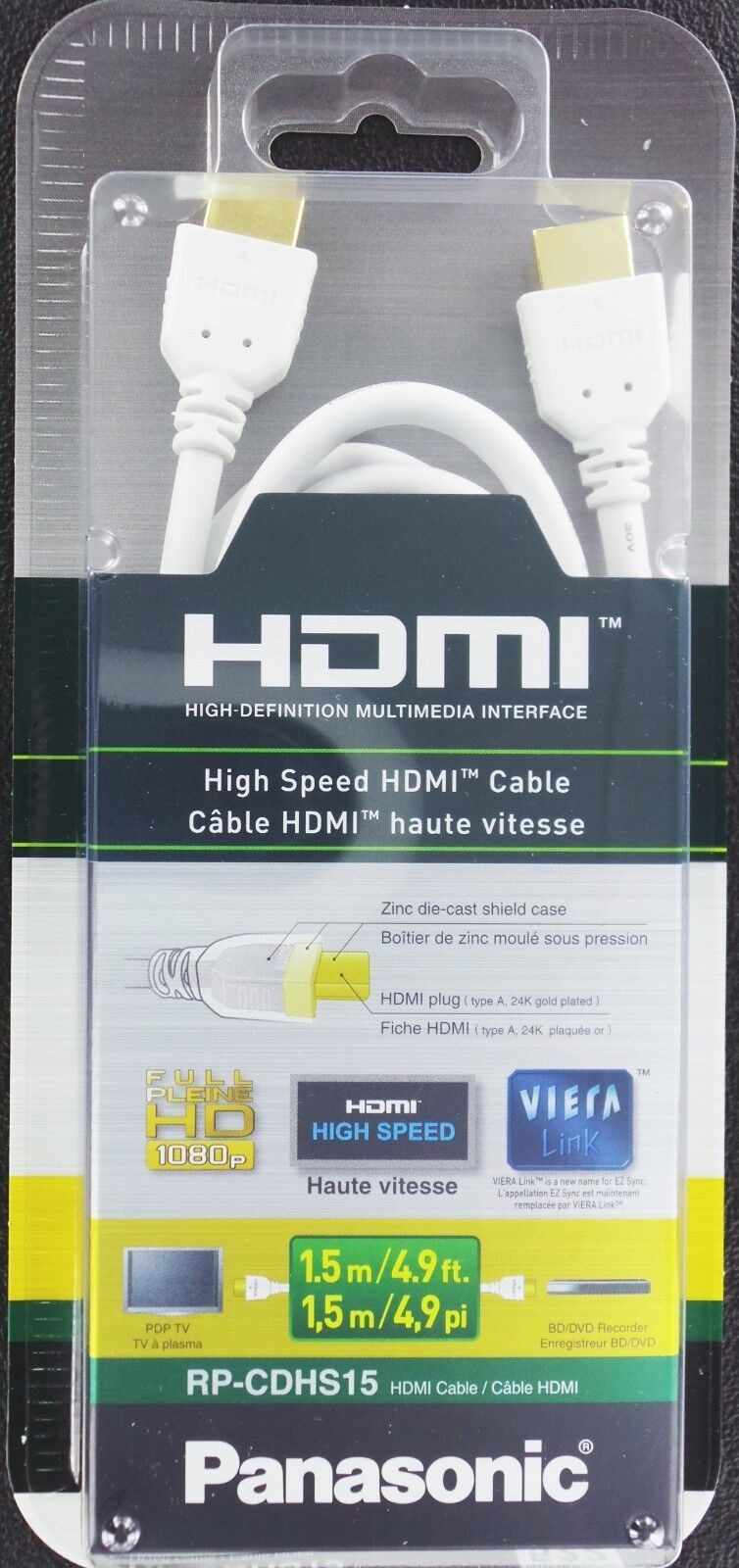 yanw 15FT HDMI Cable Cord Premium 1.4 for 4K 3D 1080P PSP PS3 Xbox HD LCD