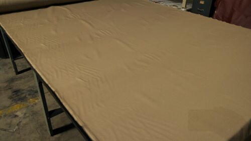 """Beige Woven Upholstery Auto Seat Fabric Poly Canvas 65/""""W OEM Interior Soft A19"""