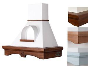 Cappa cucina rustica AGNY 90 da perete classica in legno con nicchia ...