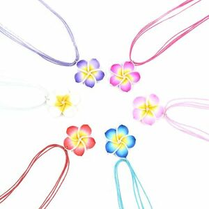 1 Set Costume Clay Fimo Frangipani Necklace Earrings Jewelry Sets 6 Colors