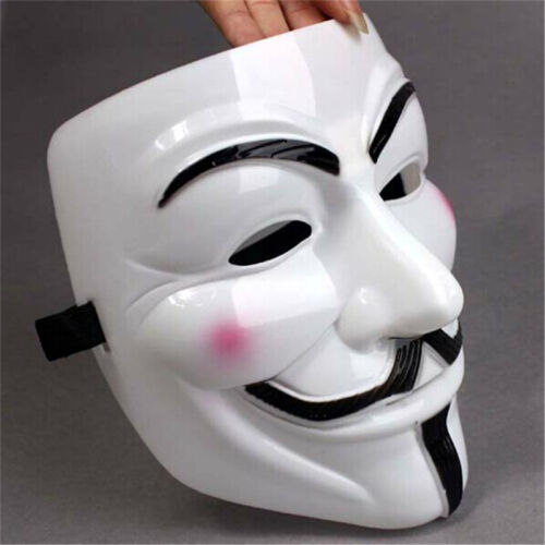 V for Vendetta Mask Anonymous Guy Fawkes Fancy Dress Fancy  Cosplay Costume HOT