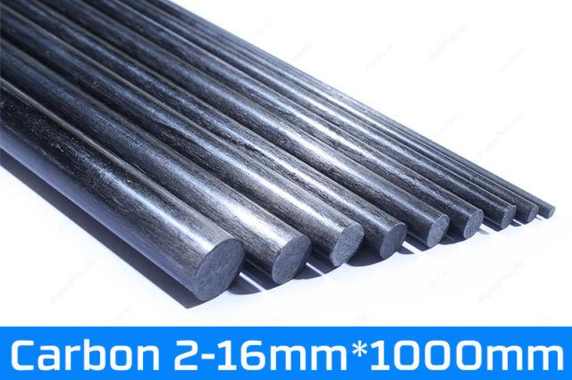 1m Carbon Stäbe 2mm-10mm / CFK Fiber Rods Kohlefaser Rundstab 1000mm Stab