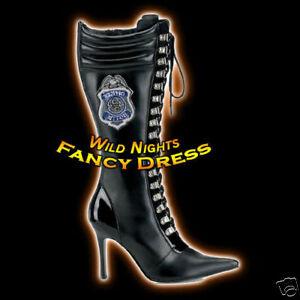 FANCY-DRESS-POL205-POLICEWOMAN-STILLETTO-BOOTS-SIZE-6