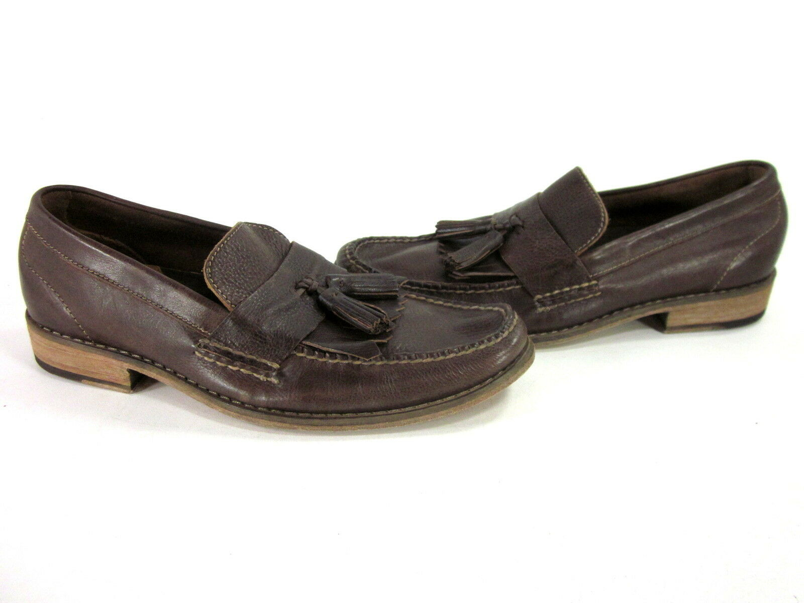 COLE HAAN AIR DELANCY SHAWL uomo COMFORT LOAFERS LOAFERS LOAFERS LEATHER Marronee US SZ 8.5 MEDIUM b71848