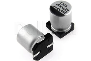 20PCS 220UF 16V SMD Aluminum Electrolytic Capacitors 6.3*7.7mm