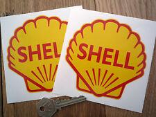 """Classic Shell oli 4 """"Shell Corsa & Rally Auto adesivi."""