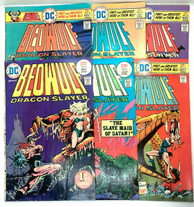 DC Comics Beowulf Dragon Slayer Run Lot Comic  1(1st DC Issue), 2, 3, 4, 5, & 6