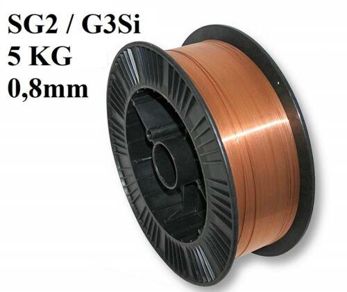 5kg sg2 sudor alambre 0,8mm MIG//MAG 1 papel-g3si 5 kg 0,8
