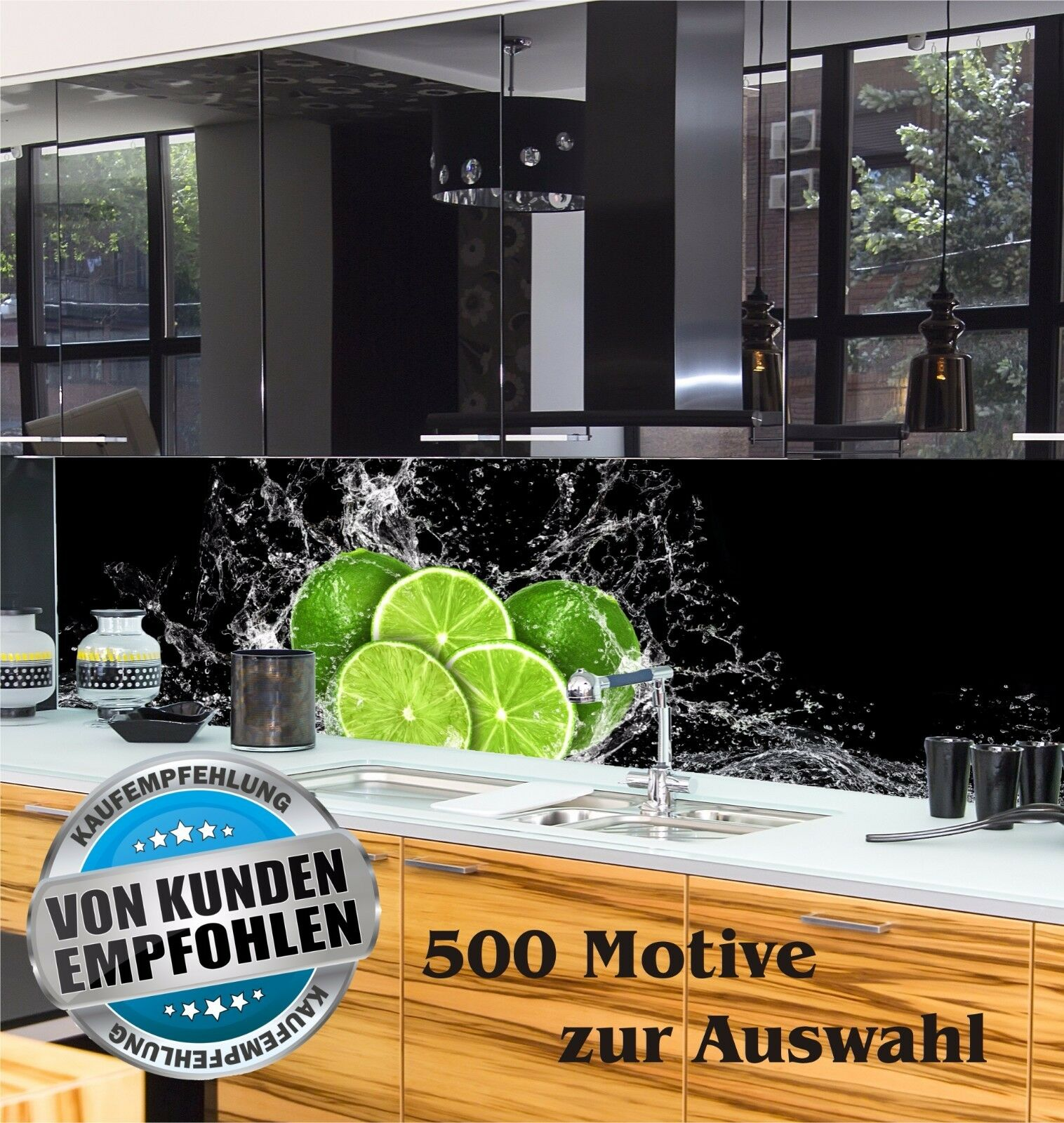 Küchenrückwand Spritzschutz nach Maß Acrylglas individuell Motiv ...
